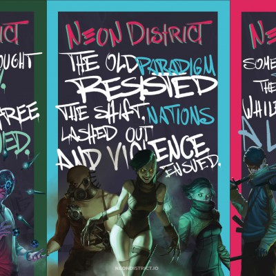 Concept art for Neon District characters