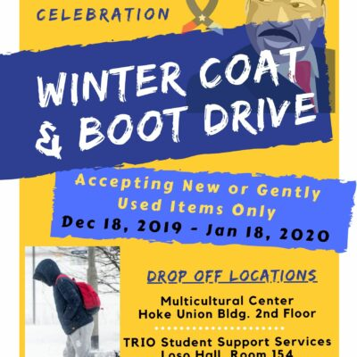 Coat & Boot Drive poster MLK Day 2020