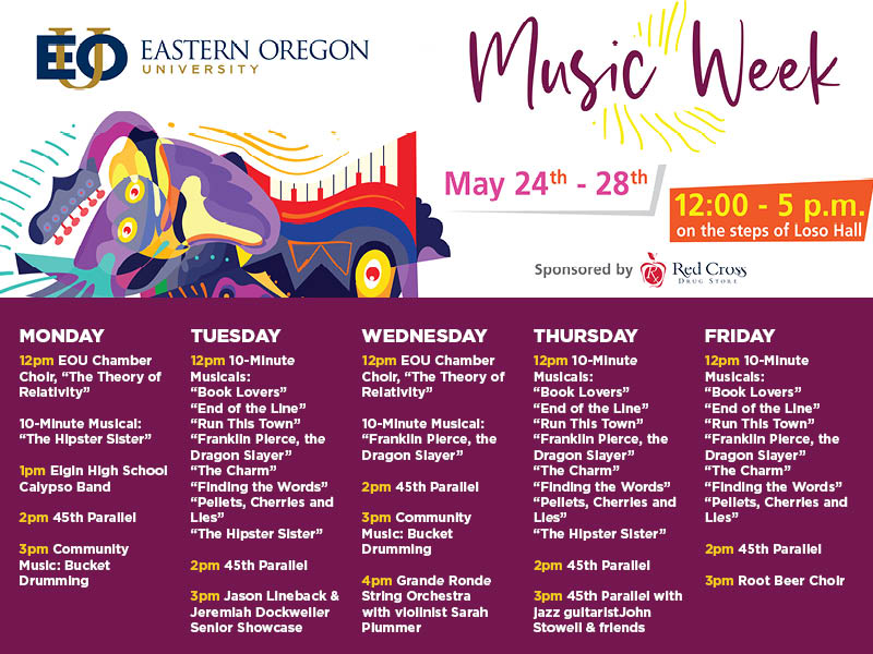 Schedule for Music Week 2021
