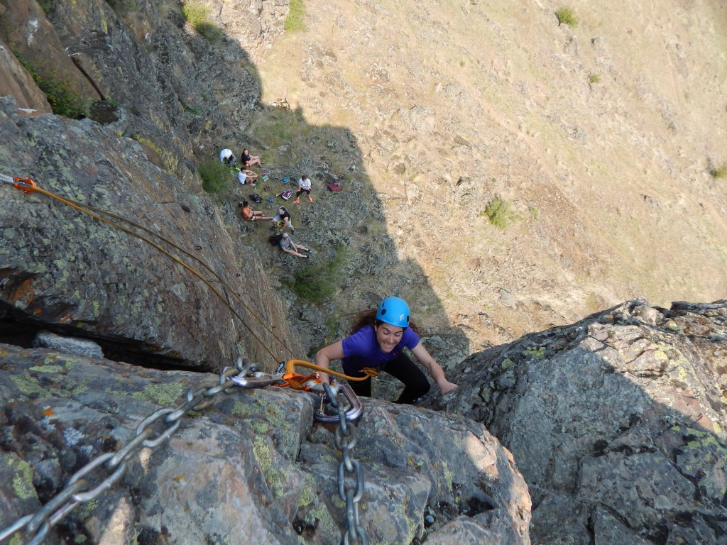 EOU Outdoor Students Climbing