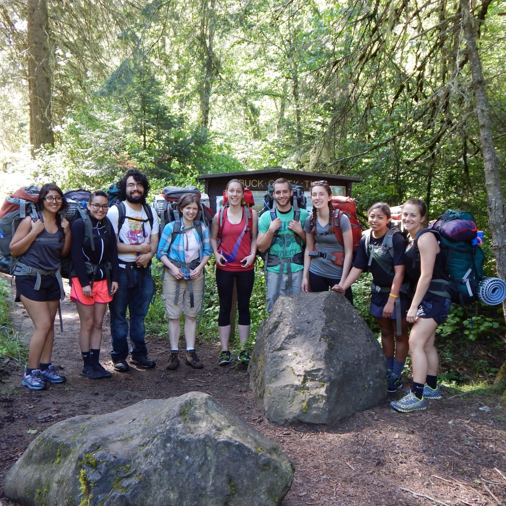 EOU Outdoor Students