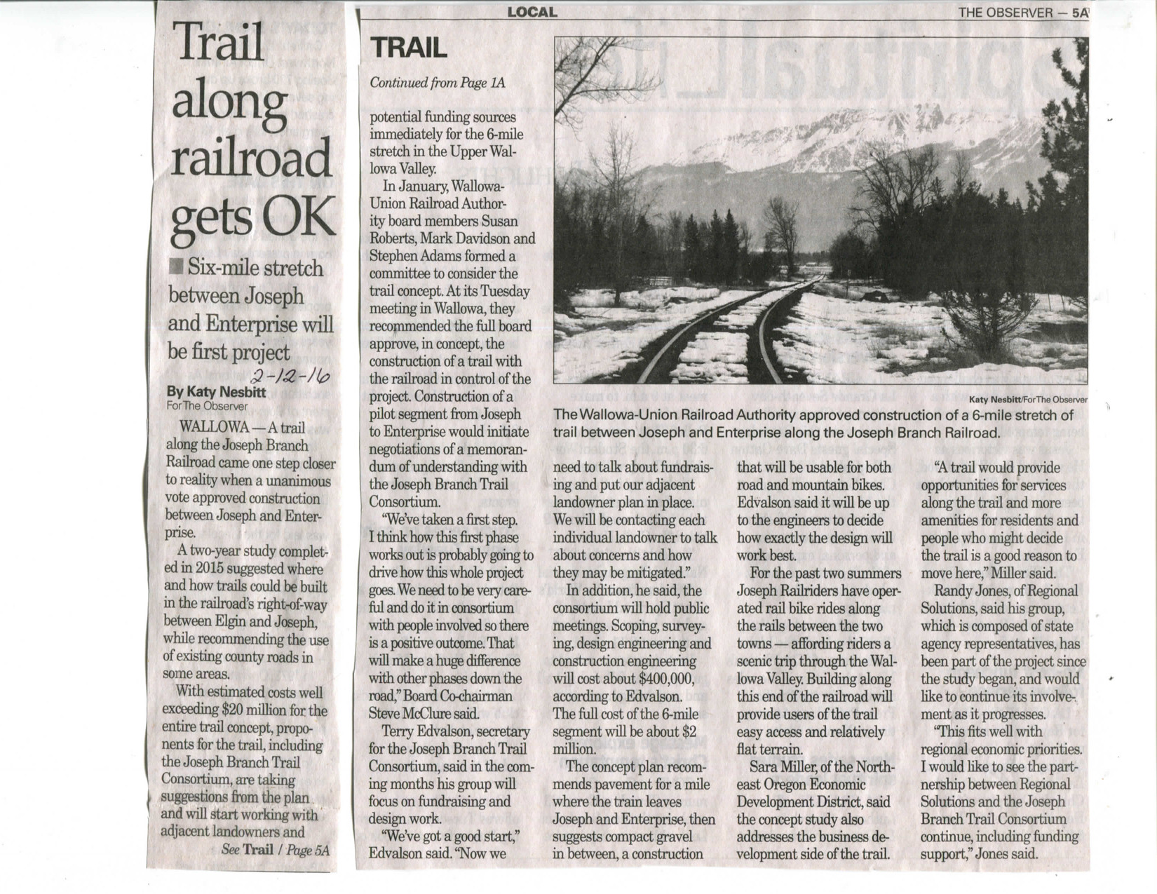 story Rail with trail