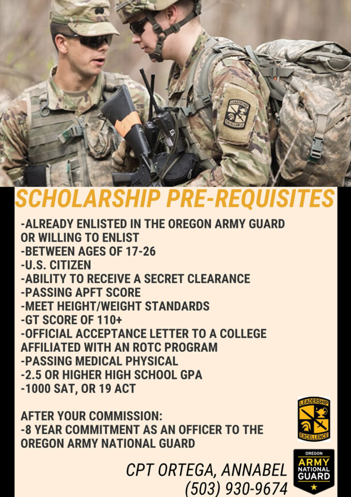 ROTC Scholarship Pre-Requisites