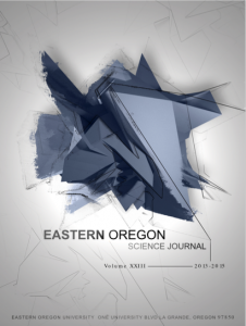 Katie Arnzen's cover for the 2013-2015 Eastern Oregon Science Journal