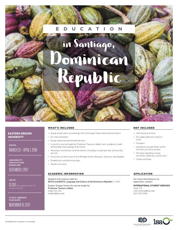 Link to PDF Education in Santiago, Dominican Republic