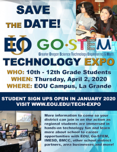 2020 EOU-Go-STEM Technology Expo - Save The Date
