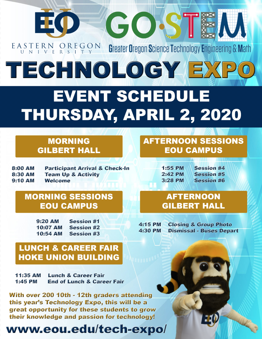 2020 EOU-Go-STEM Technology Expo - Event Schedule