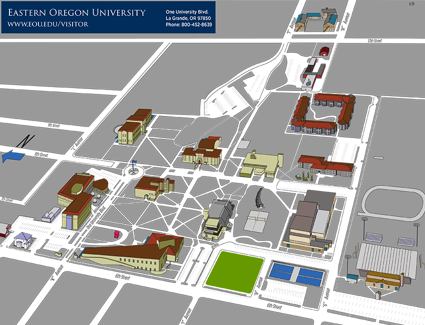 Eastern Oregon University Campus Map