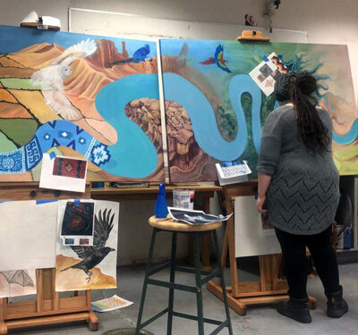 Multicultural Center Mural EOU The Voice