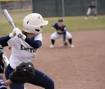 Katie Playing Softball
