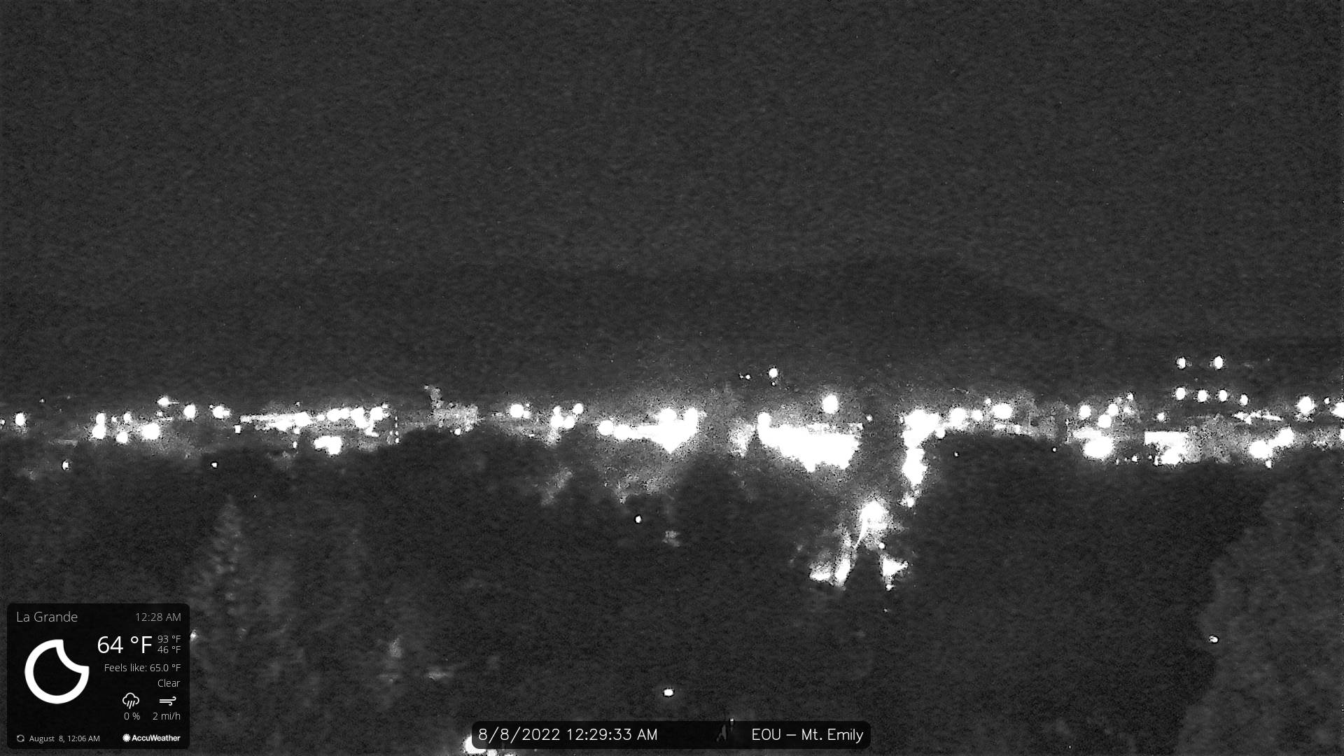 View from EOU Webcam