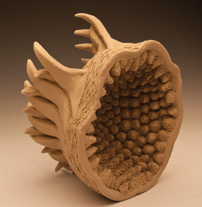 "Danielle Stansberry, ""Untitled,"" ceramic sculpture, 9x10x7."