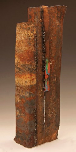"Tina Miller, ""Untitled,"" mixed media, 24x7x7."