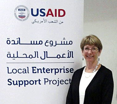 Johnson at the USAID workshop.