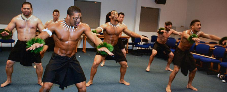 Haka dance rehearsal