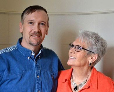 Photos by Dillon Starr / EOU student Shane Holly with his mother Lila Smith.