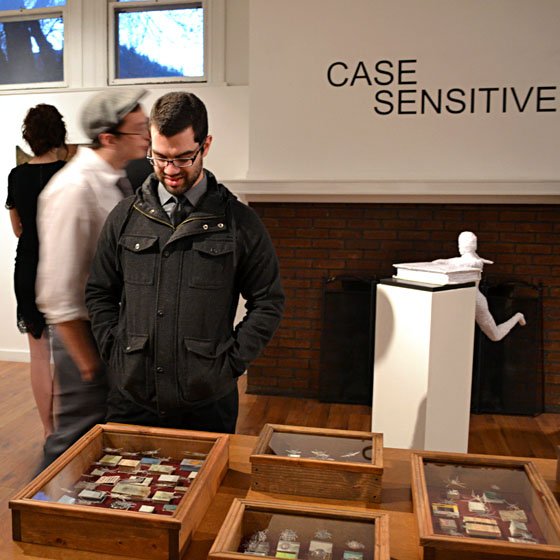 """See the """"Case Sensitive"""" at the Art Center at the Old Library through March 28."""