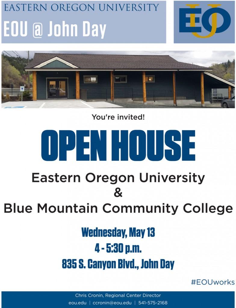 EOU John Day open house