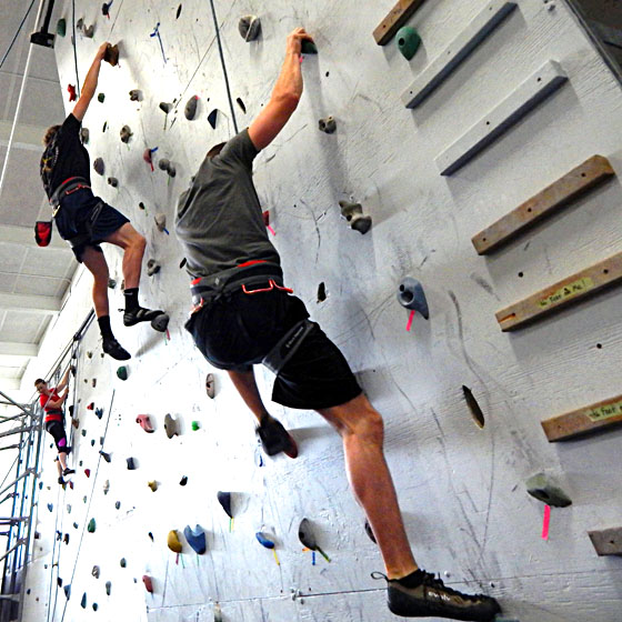 Photo by Michael Hatch / EOU's indoor climbing wall is increasing hours of operation