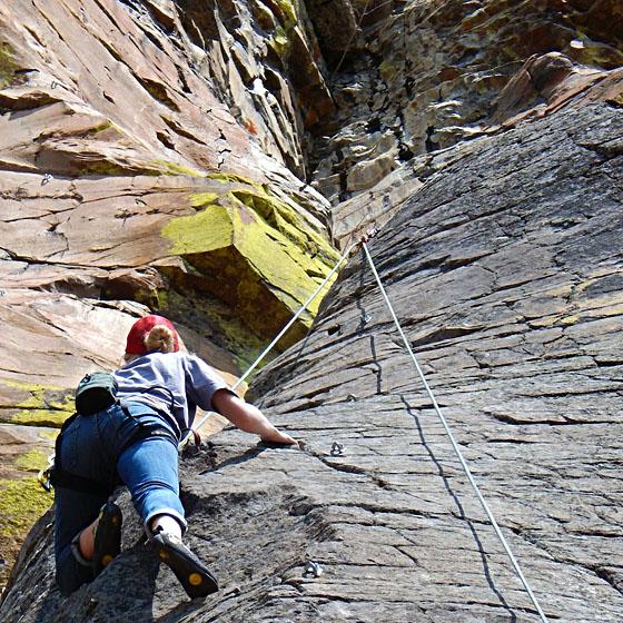 EOU Outdoor Program climbing day at High Valley