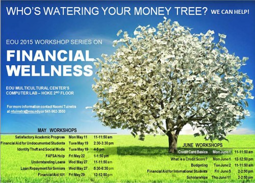 EOU financial wellness workshop schedule