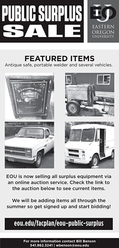 EOU public surplus sale