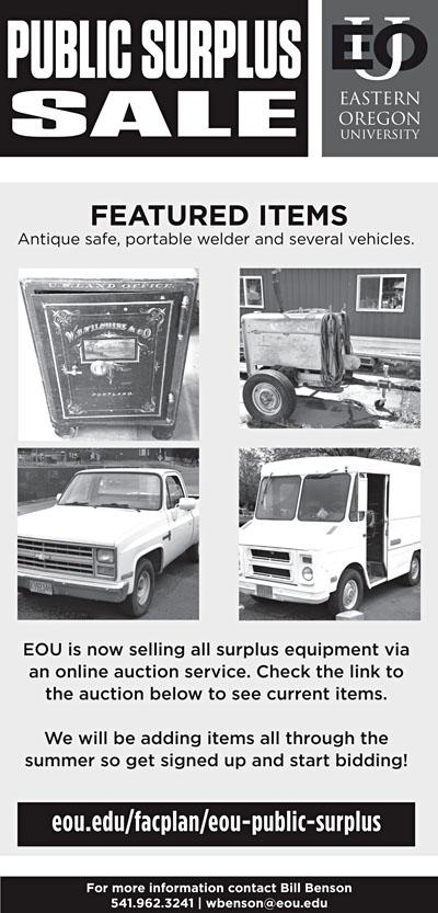 c1fa0d78b1 EOU holds public surplus auctions