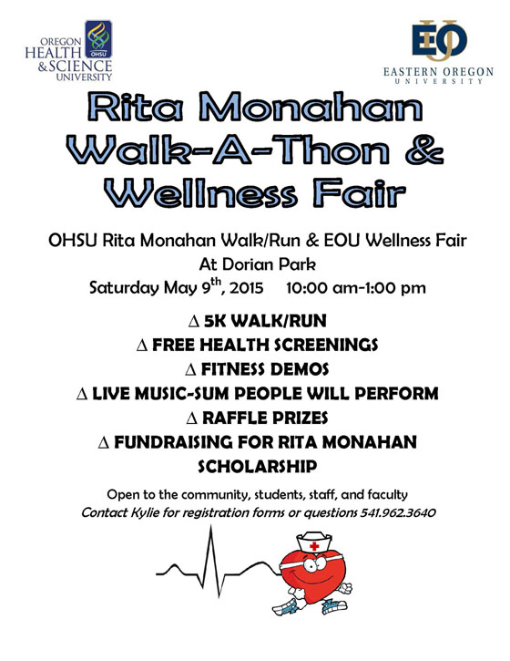 Walk-a-Thon and Wellness Fair at EOU May 9