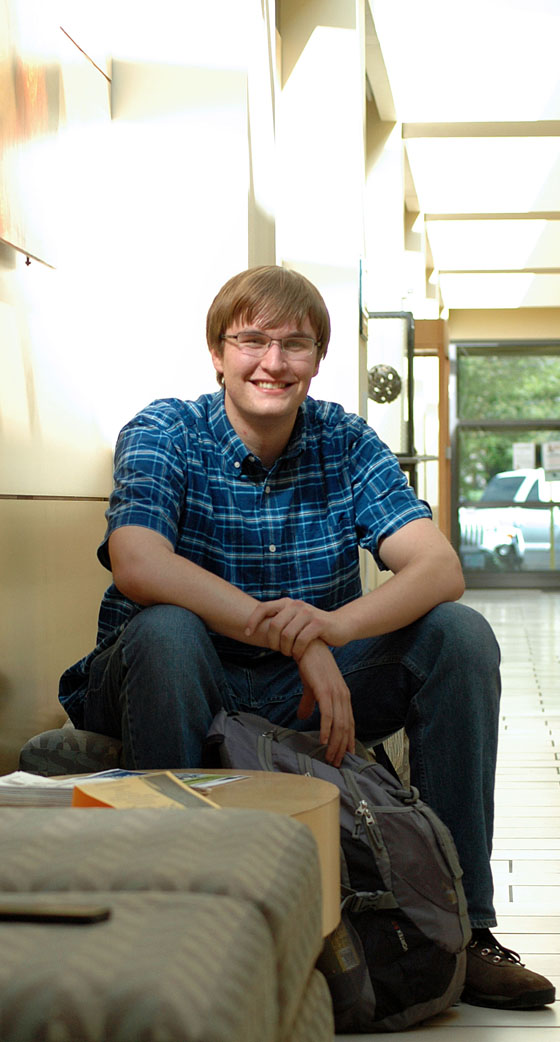 """EOU junior Jeremy Bard is heading to Chemtura Corporation in Connecticut this summer where he will assist with testing kinetics of petroleum product additives. """"It's going to be a great experience in all aspects and will help me decide if I want to go into industrial chemistry,"""" he said."""