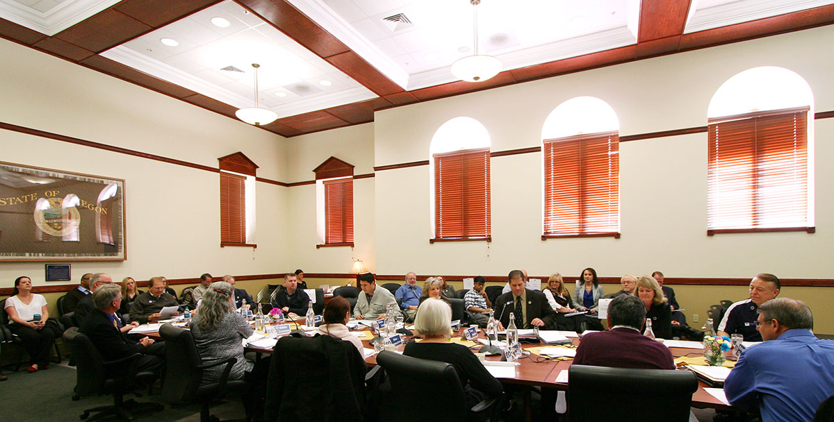 Photo by Laura Hancock / EOU's Board of Trustees is convening Thursday, Oct. 22 in Inlow Hall, Room 201. The meeting is open to the public.