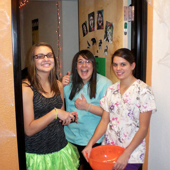 EOU file photo / Students in all three residence halls on campus will welcome trick-or-treaters from 6-8 p.m. October 31.