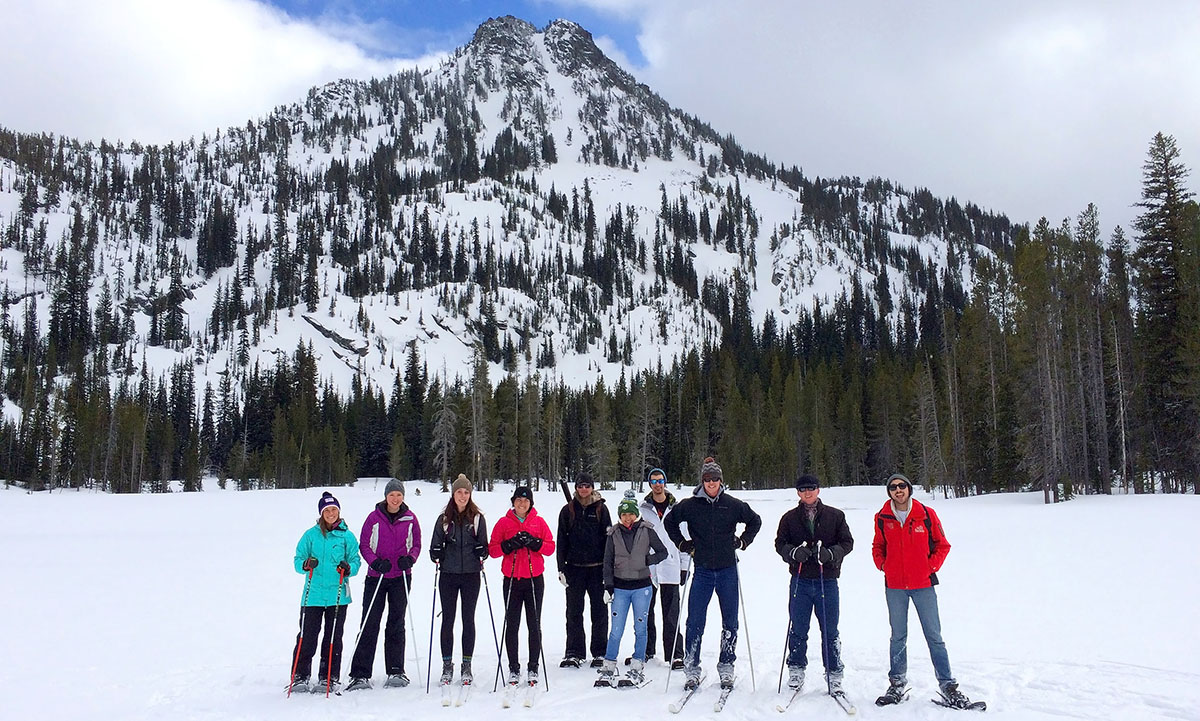 EOU students at Anthony Lakes