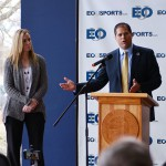 AD Weissenfluh and President Insko at wrestling announcement-featured