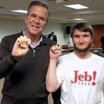 Alex McHaddad with Jeb Bush