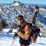 Photo by Michael Hatch / EOU student Nathan Baeth on Angell Peak in the Elkhorns.