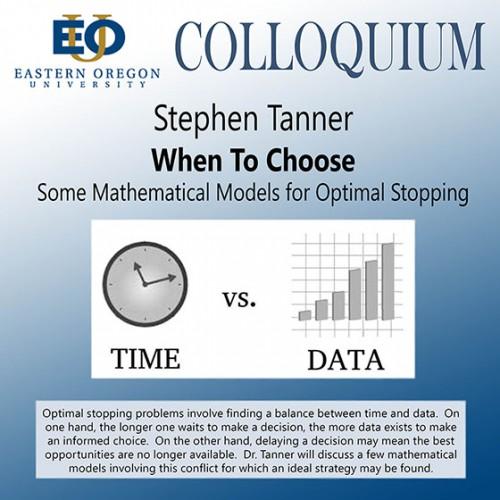 Steve Tanner colloquium