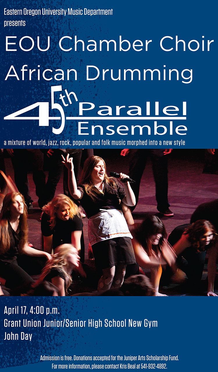 Concert benefits Juniper Arts Scholarship   Eastern Oregon ...