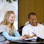 TRIO program students studying