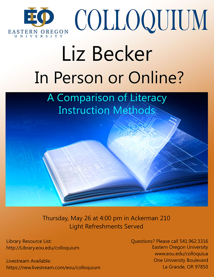 Colloquium with Liz Becker