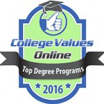2016 College Values Online badge