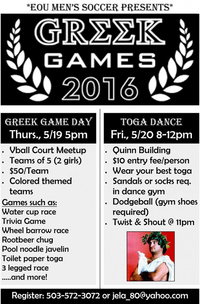 Greek Games flyer