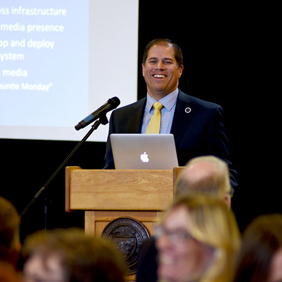 EOU President Tom Insko will address faculty and staff for Fall Convocation Tuesday, Sept. 20.