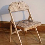 "Artist Ron Longsdorf's ""Chair,"" wood, OSB and screws, 2014."