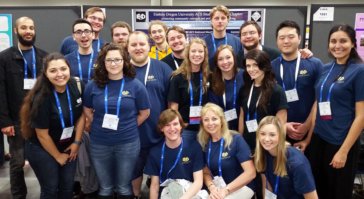 Submitted photo / Members of the EOU Chemistry Club at the national meeting of the American Chemical Society held in San Diego in March.