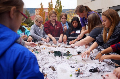 File photo / Among the EOU Chemistry Club's many noteworthy activities are events tailored for K-12 students. Members are currently gearing up to help out during the 15th annual Girls in Science program on campus Saturday. Oct. 22.