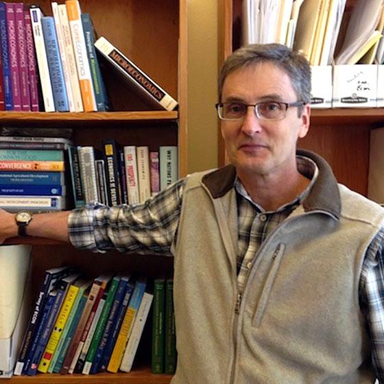 Peter Maille, associate professor of economics at EOU