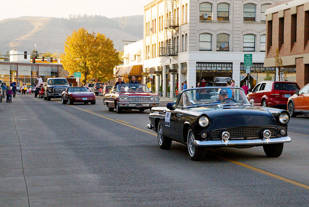 EOU file photo / Vintage cars are a highlight of the Homecoming parade through downtown.