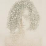 "Jessie Street, ""Shedding V,"" ink on paper, 5""x7"" (2016)."