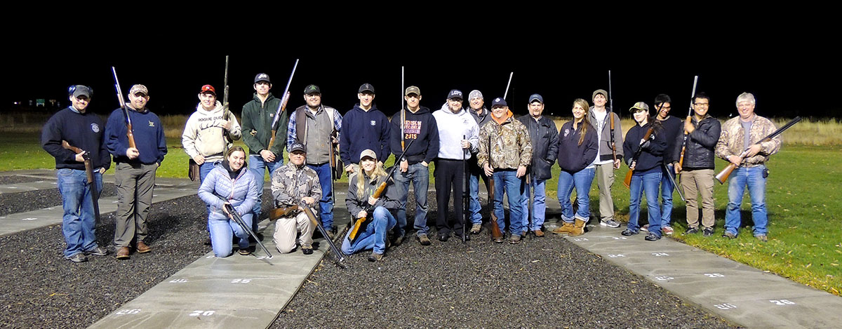 """Photo by Kathryn Shorts /Members of the EOU Trap Club hosted an eventin November to say """"thank you"""" to local law enforcement and first responders."""