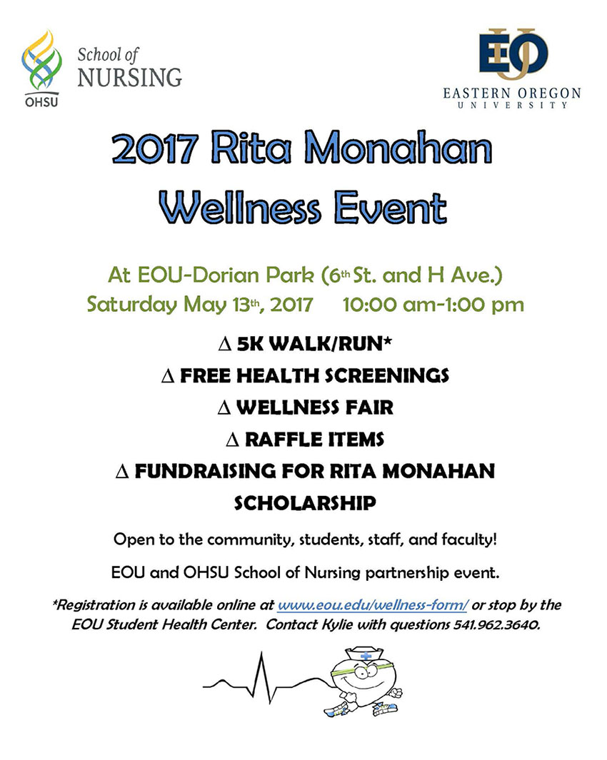 2017 Rita Monahan Wellness Event flyer